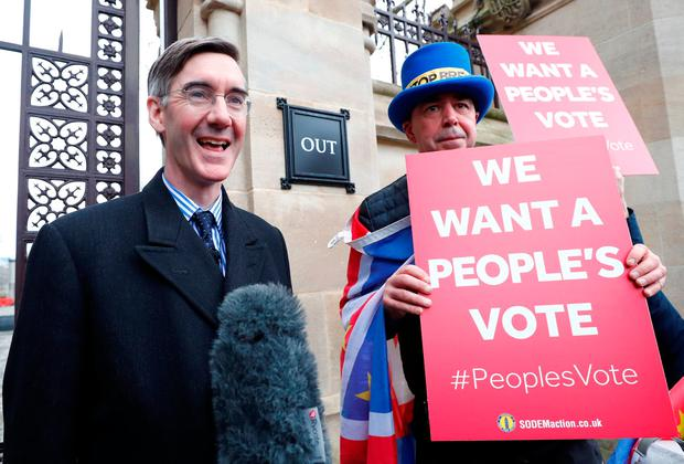 Political celebrity: Brexiteer Jacob Rees-Mogg. Picture: Reuters