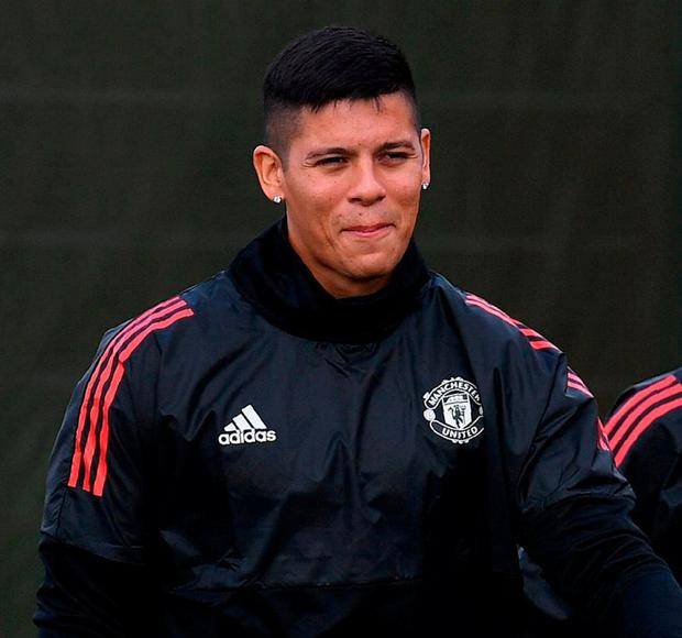 'Rojo (p) is considered the most expendable among the club's five central defenders.' Photo: Paul Ellis/AFP/Getty Images