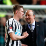 Newcastle United manager Rafael Benitez shares a word with Sean Longstaff after the Emirates FA Cup third round replay match. Photo: PA