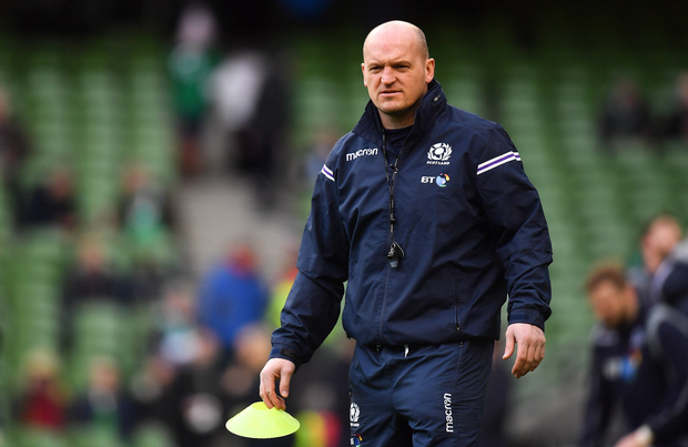 10 March 2018; Scotland head coach Gregor Townsend prior to the NatWest Six Nations Rugby Championship match between Ireland and Scotland at the Aviva Stadium in Dublin. Photo by Brendan Moran/Sportsfile