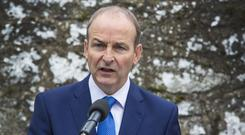 Micheal Martin, Leader of Fianna Fail PIC COLIN O'RIORDAN