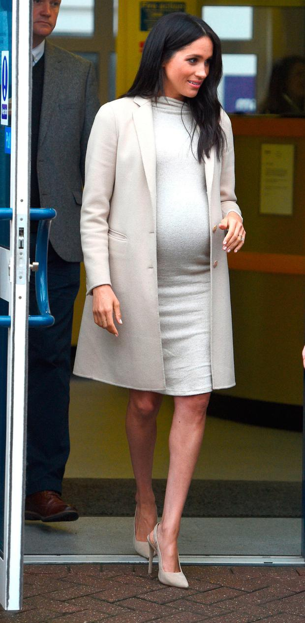The Duchess of Sussex leaves after a visit to Mayhew, an animal welfare charity she is now supporting as patron, at its offices in north-west London
