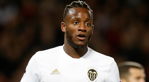 Michy Batshuayi, who is on loan at Valencia from Chelsea, is a target for Monaco. Photo: Martin Rickett/PA