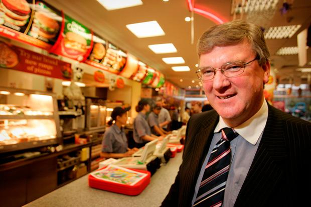 Taste of home: Founder Pat McDonagh in the O'Connell St branch of Supermacs. Photo: Gerry Mooney