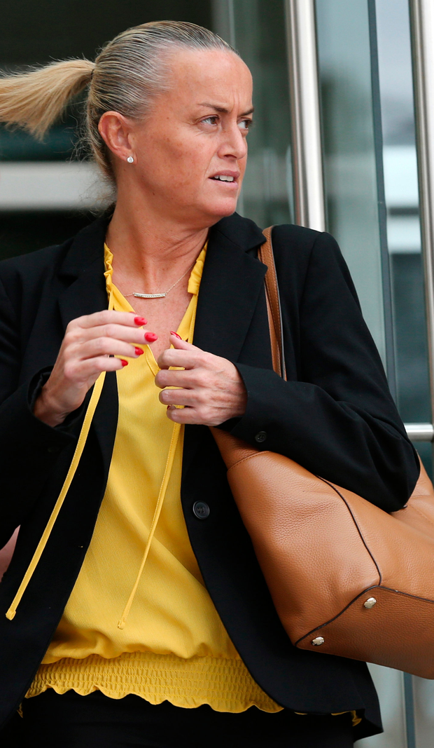 Fraud: Susan Redmond leaving the Dublin District Court yesterday. Photo: Collins