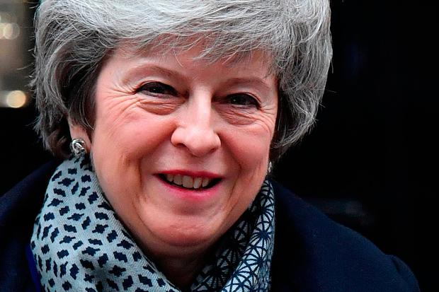Under fire: Theresa May survived last night's no-confidence vote, but her problems are far from over