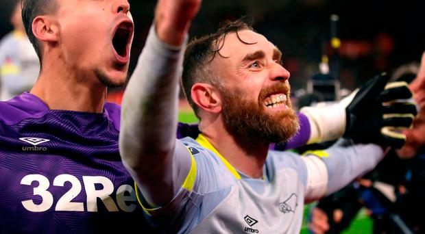 Skipper Keogh leads from the front for Derby as Saints go marching out of Cup