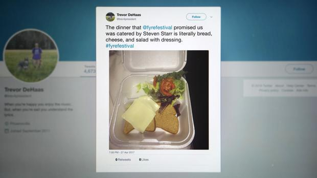 The sandwich image went viral