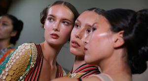 Models are seen backstage ahead of the Francesca Liberatore show during Milan Fashion Week Spring/Summer 2019 on September 23, 2018 in Milan, Italy. (Photo by Tristan Fewings/Getty Images)