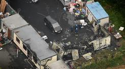 The scene of the tragic fire at Glenmaluck Road, Carrickmines . Picture By David Conachy 10/ 9/ 2015