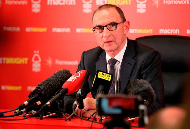Nottingham Forest manager Martin O'Neill during a press conference at the City Ground, Nottingham. Mike Egerton/PA Wire.