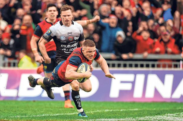 The build-up to the Chiefs clash has been like last year's quarter-final which featured a memorable Andrew Conway try. Photo: Diarmuid Greene/Sportsfile