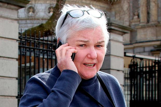Claims: Bríd Smith of People Before Profit, deputy for Dublin South-Central, at Leinster House yesterday. Photo: Tom Burke