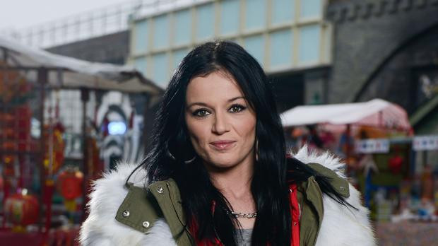Hayley Slater is hit by a minibus in EastEnders (Kieron McCarron/BBC/PA)
