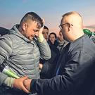 Jose Rosello, left, the father of Julen who fell down a borehole. Photo: AFP