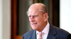 Prince Philip: His Land Rover turned over on to the driver's side. Photo: Reuters