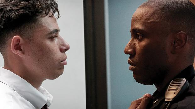 Anthony Ramos and John David Washington appear in Monsters and Men by Reinaldo Marcus Green, an official selection of the U.S. Dramatic Competition at the 2018 Sundance Film Festival. Courtesy of Sundance Institute | photo by Alystyre Julian.
