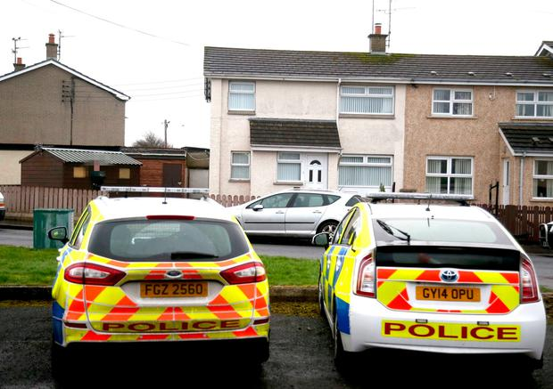 The Scene at Rockmount Gardens Articlave Coleraine where a man named locally as Ian Patterson age 44 was killed changing a light bulb.PICTURE STEVEN MCAULEY/MCAULEY MULTIMEDIA
