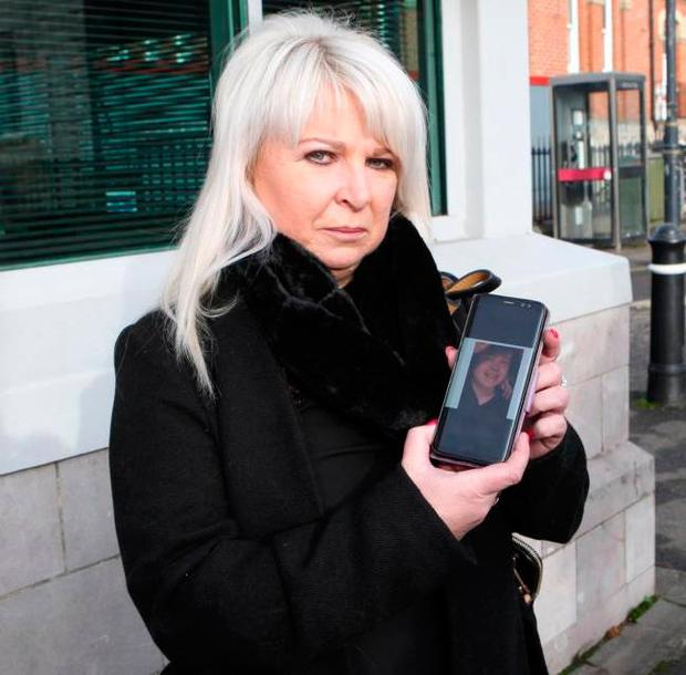 Tracey Martin, mother of Shea, at his inquest at Armagh Courthouse yesterday. Photo: Freddie Parkinson