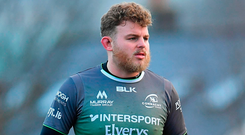 Finlay Bealham will be hoping to have the same success against Bordeaux- Begles as he enjoyed when Connacht faced them in the Sportsground earlier in the Challenge Cup. Photo: Sportsfile