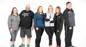 Weight goals: RTÉ's Operation Transformation leader, from left: Pamela Swayne, Cathal Gallagher, Siobhán O'Brien, host Kathryn Thomas, Jean Tierney and Paul Murphy