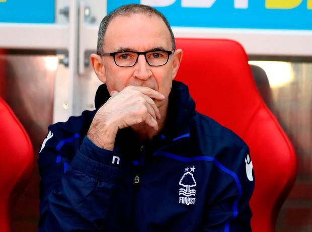 Nottingham Forest manager Martin O'Neill during the Sky Bet Championship match at The City Ground, Nottingham. PRESS ASSOCIATION Photo. Picture date: Saturday January 19, 2019. Scott Wilson/PA Wire.