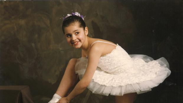 Cheryl prepares to dance in her first competition as a child (The Greatest Dance/BBC)