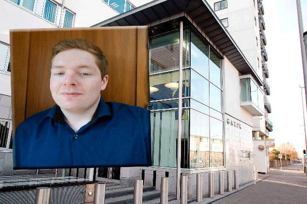 Fearghal O Snodaigh (inset) allegedly assaulted a garda at Ballymun Garda Station