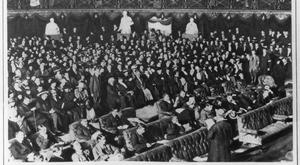 The first Dail meets in January 1919, as reported in ' The London Illustrated News'. Photo: Hulton Archive/Getty Images
