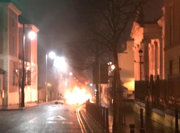 Four men arrested after vehicle bomb exploded outside Derry court house