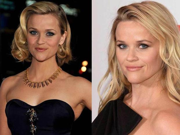 Reese Witherspoon 10 years ago and now