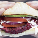 Beetroot, chickpea and miso burgers