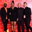 Will.i.am, Jennifer Hudson, Sir Tom Jones, and Olly Murs (Ian West/PA)