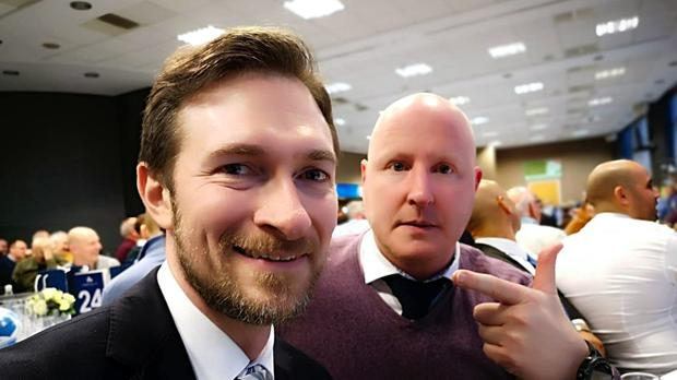 Martin Warhurst was mistaken for football manager Jan Siewert at the Huddersfield v Manchester City game on Sunday (Eorl Crabtree/PA).