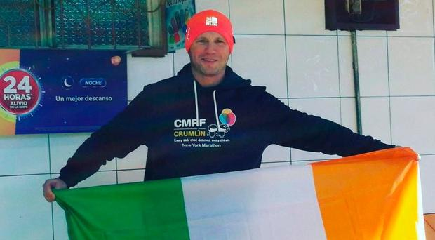 Challenge: Padraig Thompson during his trip to Costa Rica to run in the jungle to raise funds for the CMRF charity at Crumlin Hospital