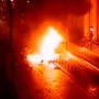 CCTV footage shows the car bomb moments after it exploded. Photo: PSNI/PA Wire