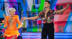 Amber alert: Eilish O'Carroll and Ryan McShane, who were voted off the third live show of RTÉ's 'Dancing With The Stars'. Photo: Kyran O'Brien