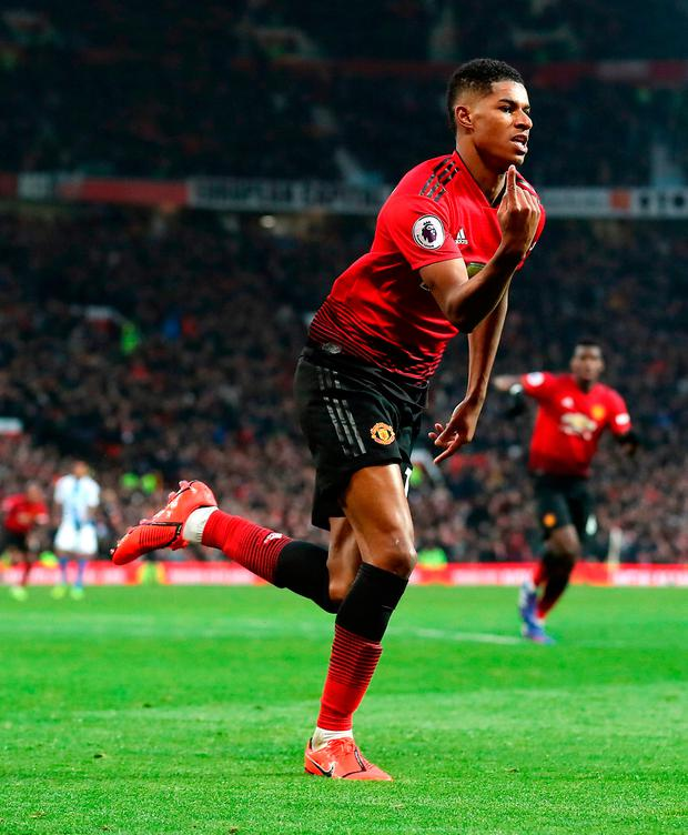 Rashford is a boyhood United fan raised in nearby Wythenshawe who plays with the sort of passion that can create legends, although disciplinary issues may turn out to be a painful side-effect. Photo: Martin Rickett/PA Wire