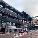 The building after the fire in Courchevel. Photo: Reuters