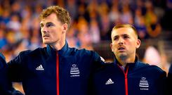 Great Britain's Jamie Murray (left) and Daniel Evans. Evans has fired back at Jamie Murray over his criticism of the Lawn Tennis Association. Ian Rutherford/PA Wire.