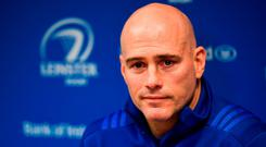 Backs coach Felipe Contepomi during a Leinster Rugby press conference at Leinster Rugby Headquarters in UCD, Dublin. Photo by Ramsey Cardy/Sportsfile