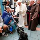 Rosemary meeting Pope Francis. Photo: Damien Eagers