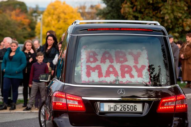 Tragedy: The funeral of baby Mary Connors in 2015. Photo: Mark Condren