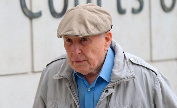 On trial: Michael Shine (86) has pleaded not guilty to 13 charges of indecently assaulting seven boys. Photo: Collins Courts
