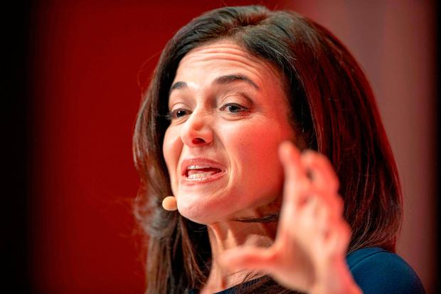 Sheryl Sandberg, chief operating officer of Facebook. Photo: AFP/Getty Images
