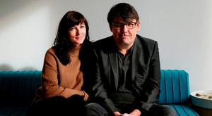 Abuse: Graham Linehan, writer of 'Father Ted' and 'The IT Crowd' comedy series, and his wife Helen have been attacked before his appearance on 'Prime Time' tonight. Photo: Brian Lawless/PA Wire