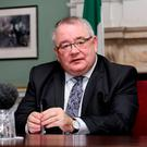 'Ceann Comhairle Seán Ó Fearghaíl took the chance to welcome those from other EU nations' Stock photo: Tom Burke