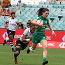 Murphy Crowe in action for Ireland against Fiji in the World Rugby Women's Sevens Series in Glendale, Colorado. Photo: IRFU