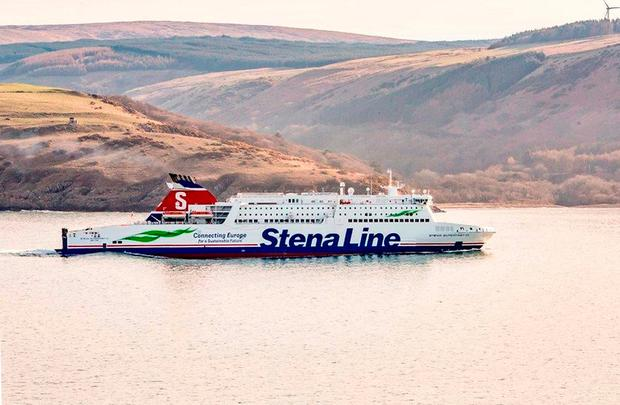 Undated handout photo issued by Stenna of their ferry, Stena Superfast VII, which has been involved in a near-miss with a nuclear-powered Royal Navy submarine. Stena Line/PA Wire