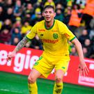 This file photo taken on January 13, 2019 shows Nantes' Argentinian forward Emiliano Sala during the French L1 football match between Nantes and Rennes. Photo by LOIC VENANCE / AFP
